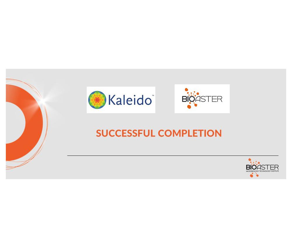 Successful completion Kaleido X Bioaster