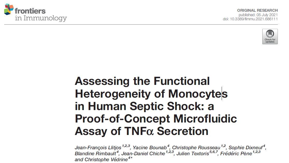 Assessing the Functional Heterogenenity of Monocytes in human septic shock