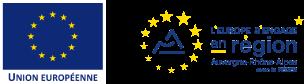 Logo Union européenne et région Auvergne Rhône Alpes